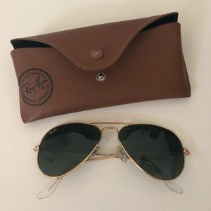 Authentic small-frame Ray ban aviators